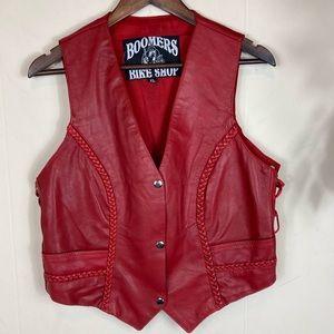 90's Vintage Genuine Leather Vest Size